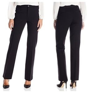 NYDJ 6 Michelle Stretch Ponte Knit Trousers Black